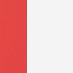 Linen / Geranium Red