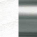LB2/AS Lacquered White Open Pore / Satinated Aluminium