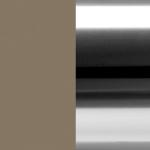 LTO/ALU Lacquered Matte Taupe / Polished Aluminum