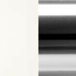 LBO/ALU Lacquered Matte White / Alluminio Lucidato