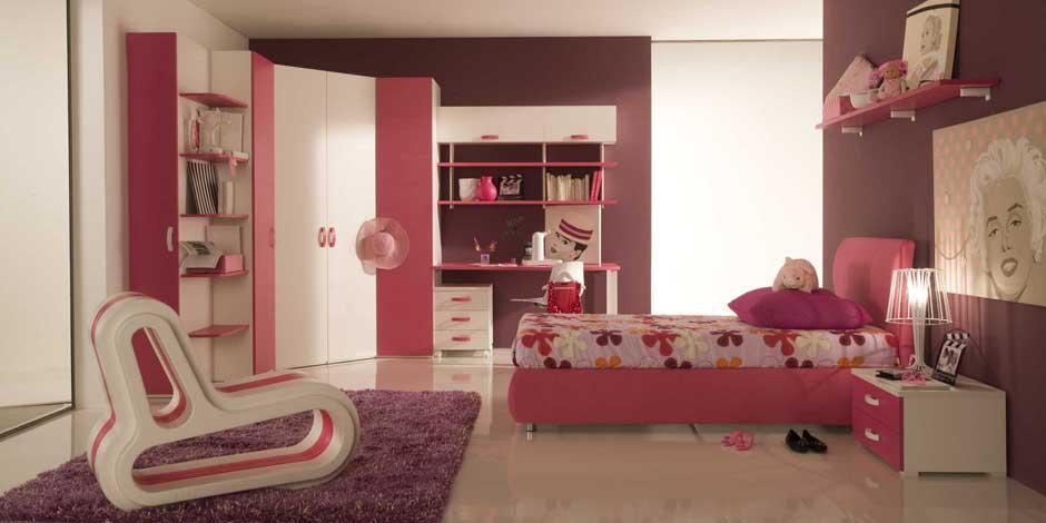 Camerette bambina e bambino mobilclick for Parete cameretta bambina