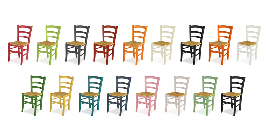 Painted Wood Chairs