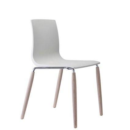 Sedia Natural Alice gambe acciaio e legno Scab Design - MobilClick