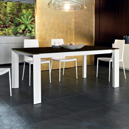 CS/4058-LV 180 Tavolo Omnia Glass di Calligaris Outlet Calligaris CS-4058-LV-180 1