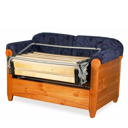 Divano letto 2 posti venezia in legno rustico per casa - Divano letto rustico ...