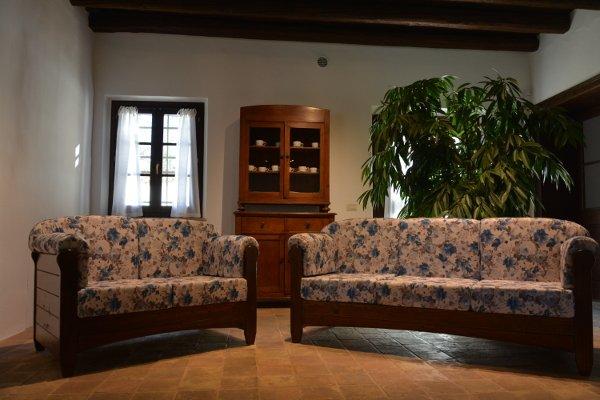 Divano Rustico Due Posti : Divano posti venezia in legno rustico per casa alberghi b b