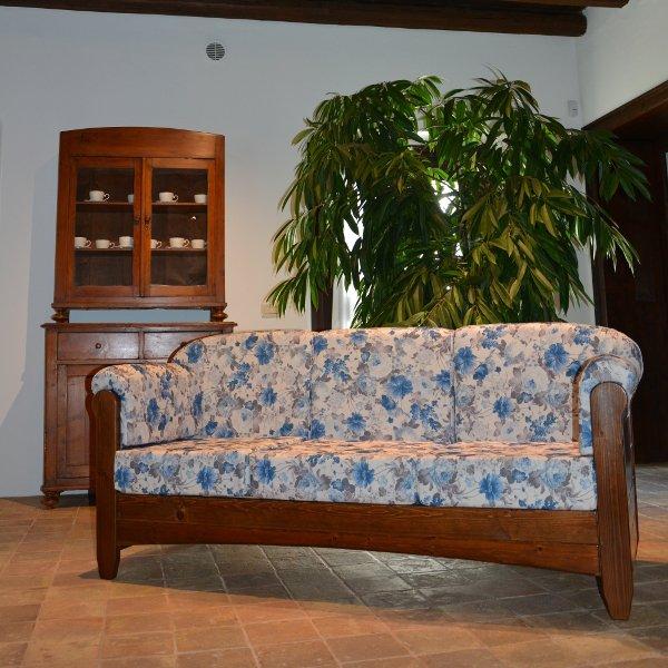 Divano 3 posti venezia in legno rustico per casa alberghi b b comunit mobilclick - Divano rustico 3 posti ...