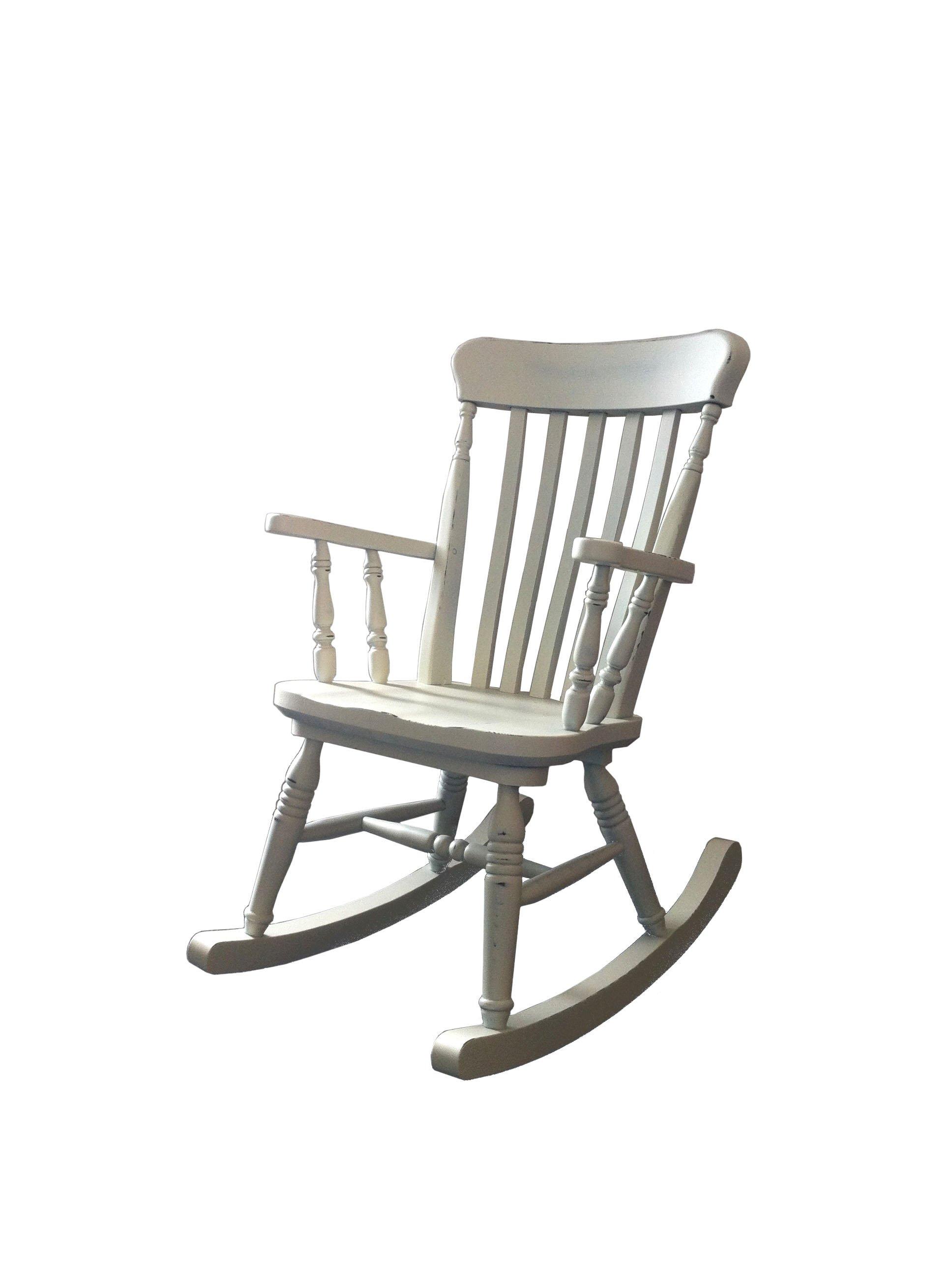 sedia a dondolo rustica in legno rustico country cucina