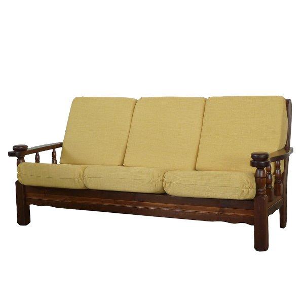 Divano 3 posti in legno vienna mobilclick for Divano rustico