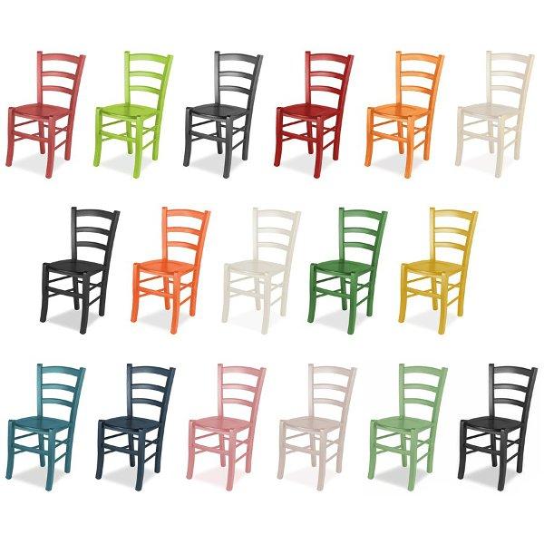 Sedia venezia dai colore alla tua casa mobilclick for Sedie legno colorate