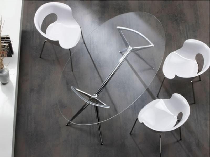 Tavolo metropolis ellittico da 180 scab design mobilclick - Tavolo ellittico ...