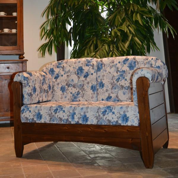 Divano 2 posti venezia in legno rustico per casa alberghi for Divano 9 posti