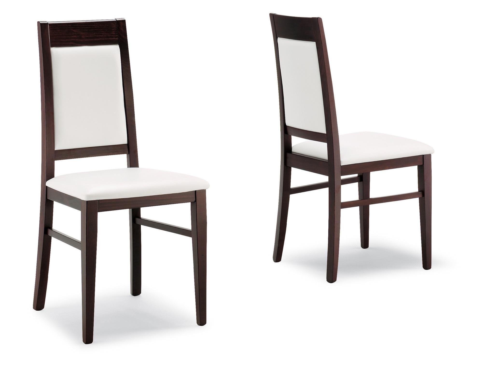Sedia moderna in legno capua per sala da pranzo bar for Vetrina per sala da pranzo moderna