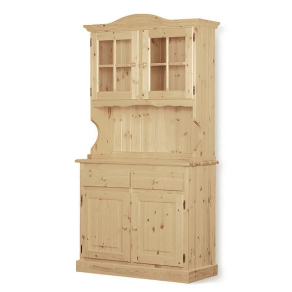Credenza 2 ante Omero legno grezzo - MobilClick