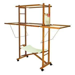 Stendibiancheria Pieghevole Max in legno per casa alberghi bandb e comunità Arredamento Zona Giorno DF-3030 0