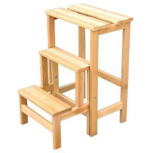 Scala Sgabello Retrattile in legno Arredamento Zona Giorno DF- 0