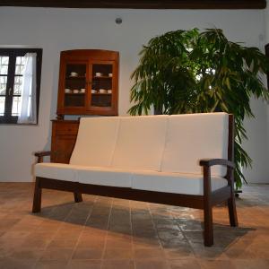 Divano 3 posti Sirio in legno rustico per casa alberghi bandb comunità Moderno giorno 5DVSIR30S02 0