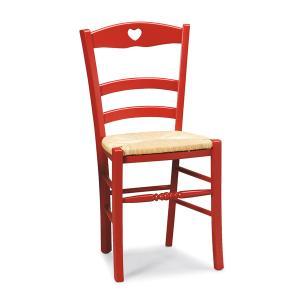 Sedia rustica in legno Petit Coeur per cucina bar ristoranti Sedie e tavoli 43P 0