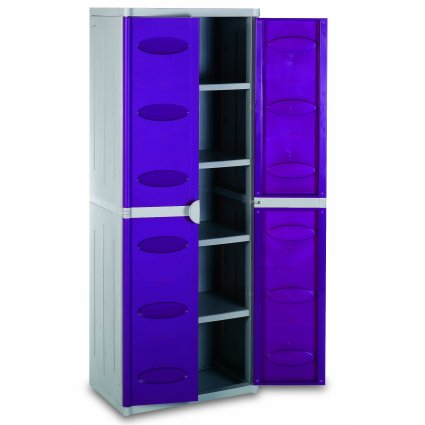 4 Shelves Multipurpose Cabinet System in resin for outdoor / terrace Living Furniture BIA-02-196 0