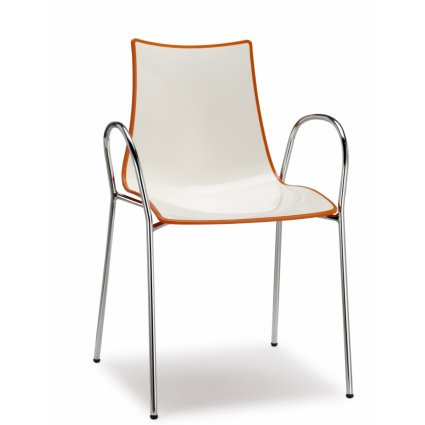 Scab Design Zebra Bicolore Chair with armrests Chairs, Armchairs, Stools and Benches SD-2610 0