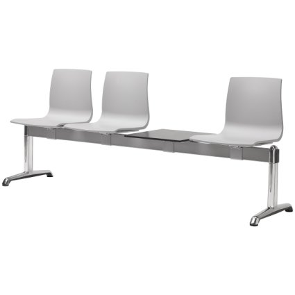 Scab Design Alice 3 seats Bench Fireproof with shelf Panche SD-2772 0