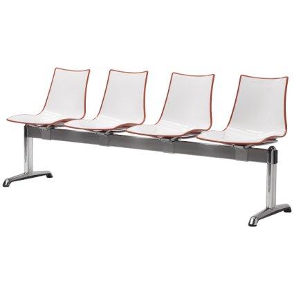 Scab Design Zebra Bicolore 4 seats Bench Panche SD-2767 0