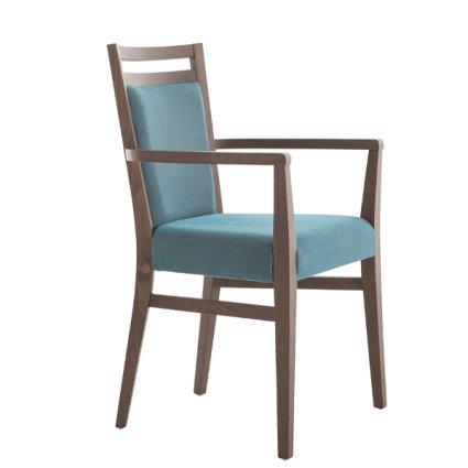 Modern Wooden Armchair for dining room bars restaurants Palma 472FP 0