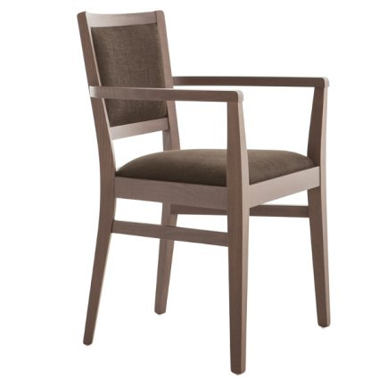 Moma Modern Wooden Armchair for dining room bars restaurants Palma 472GP  0