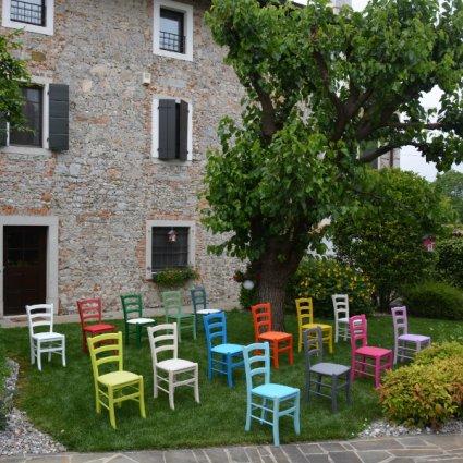 Bar Restaurant Upholstered Seat Wood Chair Palma MI-RIST-IMB 0