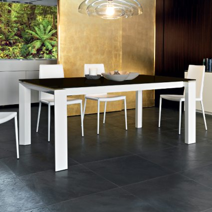 Calligaris CS/4058-LV 180 Omnia Glass Table Outlet Calligaris CS-4058-LV-180 1