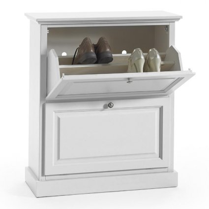 Cézanne shoe rack with 2 double flaps shabby chic style for home restaurants community hotels Imba IM-6061/A 0