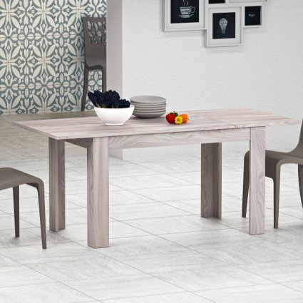 Firenze 120x80 modern extending table in wood for kitchen and dining room Imba MI-FIRENZE-120-ALL 6