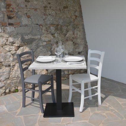Gordon Table + 2 upholstered seat Chairs Set for home, restaurants, pizzerias, communities and bars Mobililar MI-SET-GORDON 0