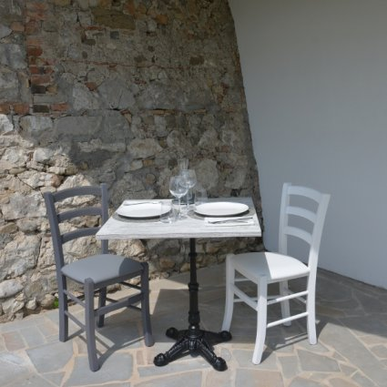 Jack Table + 2 upholstered seat Chairs Set for home, restaurants, pizzerias, communities and bars Mobililar MI-SET-JACK 0