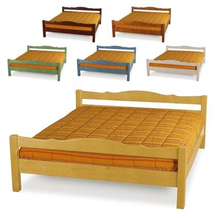 Mercurio double wooden Bed for home hotels bandb comunity Bedroom Furniture MI-3LTMER169M2 1