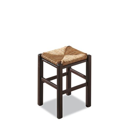 Rustica Low h.47 wooden stool with straw seat for home, restaurants, pizzerias, communities and bars OFFERTE 425Z-RIST 0