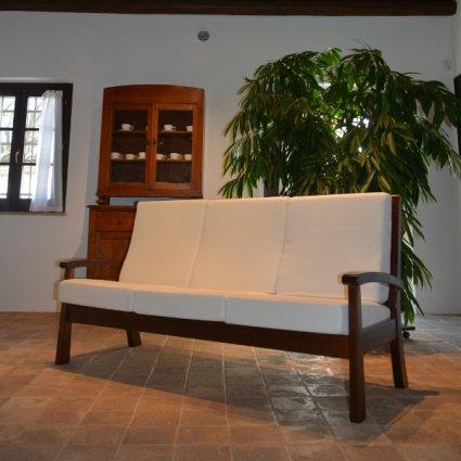 Sirio 3 seats Sofa rustic wood for home hotels bandb comunity Moderno giorno 5DVSIR30S02 0