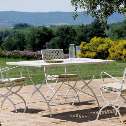Springtime Vermobil Folding rectangular metal table for garden Tavoli VM-SP3121 1