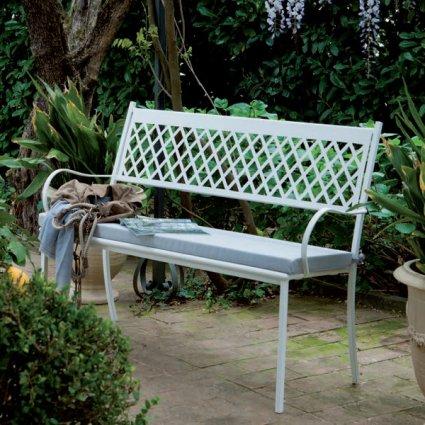 Summertime Vermobil Stackable metal bench for garden Panche VM-SU330 1