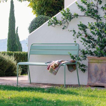Twist Vermobil Stackable metal bench for garden Complementi VM-TW330 1