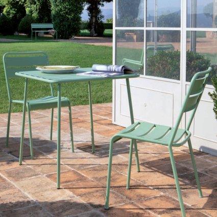 Twist Vermobil Stackable metal chair for garden Sedie VM-TW100 1