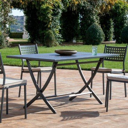 Vegas Vermobil rectangular folding metal table 160 cm for garden Tavoli VM-VE2160D 1