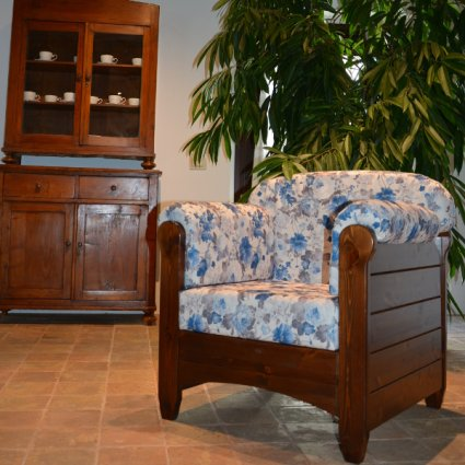 Venezia Armchair rustic wood for home hotels bandb comunity All products 5PTVNZ10M02 0