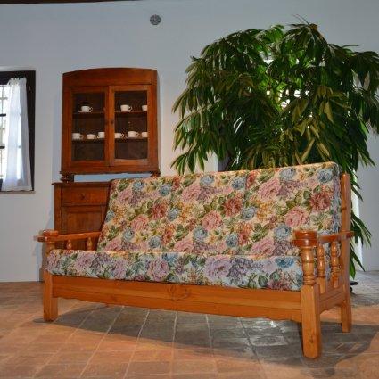 Vienna 3 seats sofa rustic wood for home hotels bandb comunity Sofas MI-5DVVIE3 0