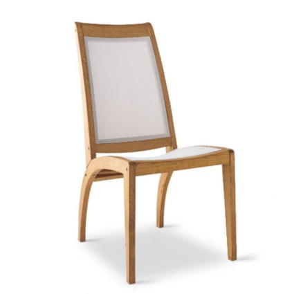 Wave Garden chair in wood and textilene Sedie MG-SE002AB 1