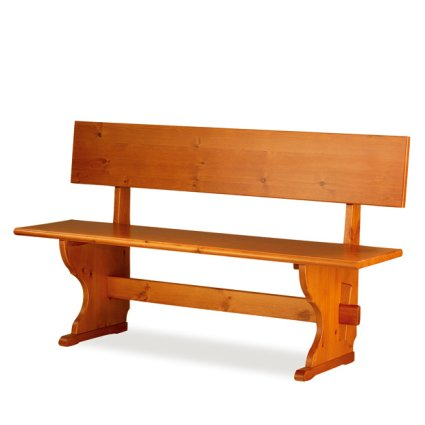 Fedra pizzeria 150 wood Bench with backrest rustic country kitchen restaurant community bar Outlet 1PAFED15102outlet 0