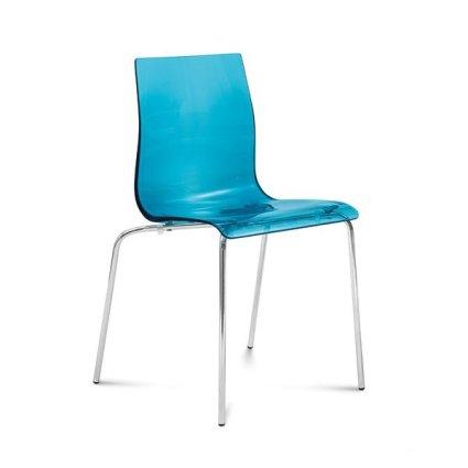 Domitalia Gel-b metal base polypropylene plastic seat Chair Sedie DO-GEL-B 0