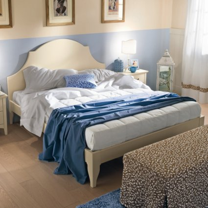 Campana Romantic rustic shabby chic style wood double Bed Beds CA-R0052 0