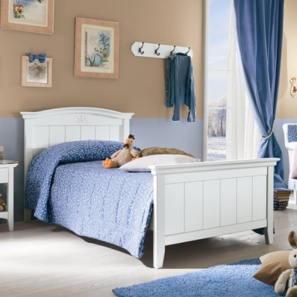 Romanza rustic shabby chic style wood single Bed Beds CA-R0066 0