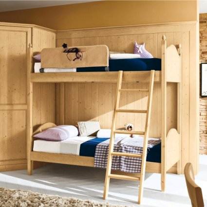 Sole rustic shabby chic style wood bunk Bed Beds CA-V0100 0